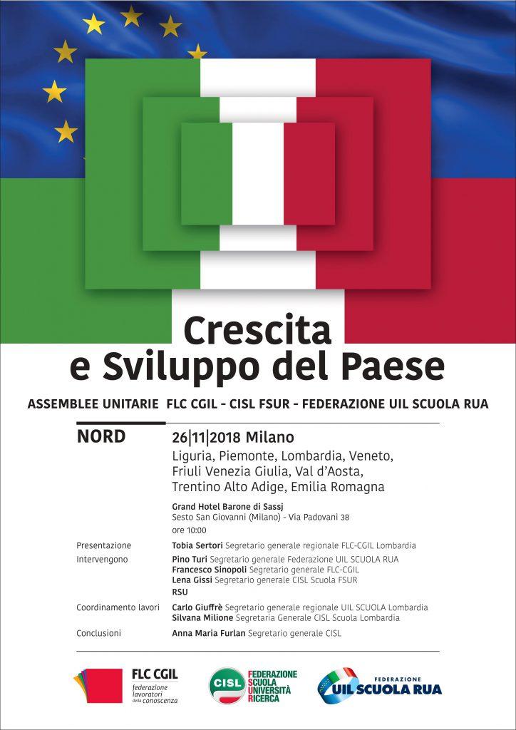 Crescita e Sviluppo del Paese – l'assemblea di Milano del 26 novembre