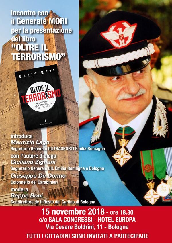 """Incontro con il Generale Mori per la presentazione del libro """"OLTRE IL TERRORISMO"""""""