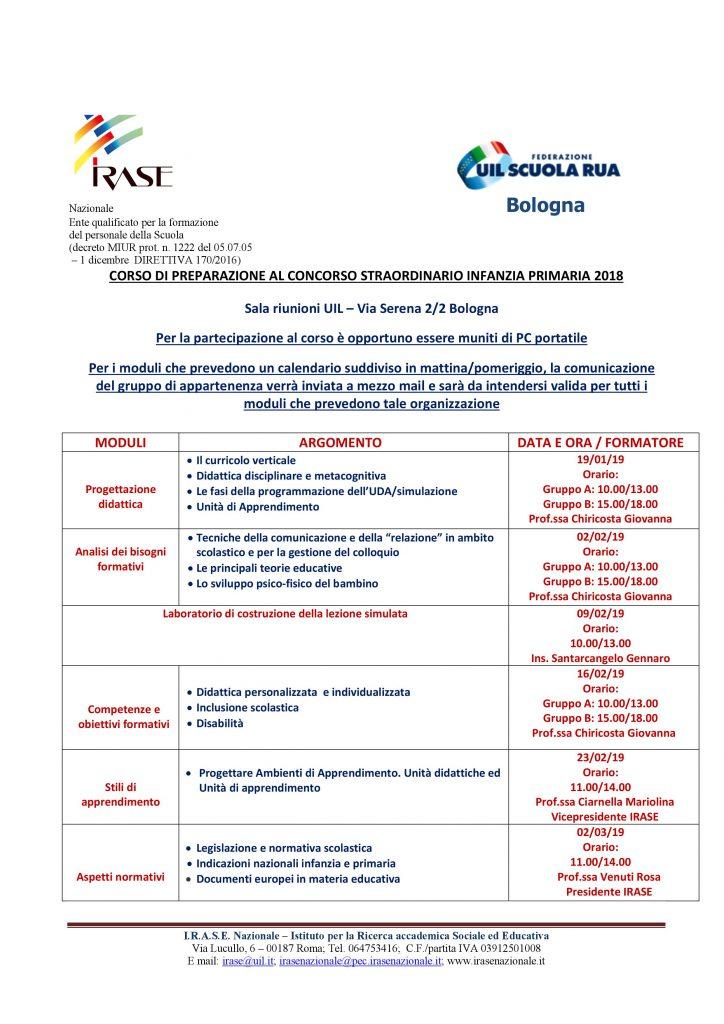 CORSO DI PREPARAZIONE AL CONCORSO STRAORDINARIO INFANZIA PRIMARIA: Primo incontro sabato 19 gennaio