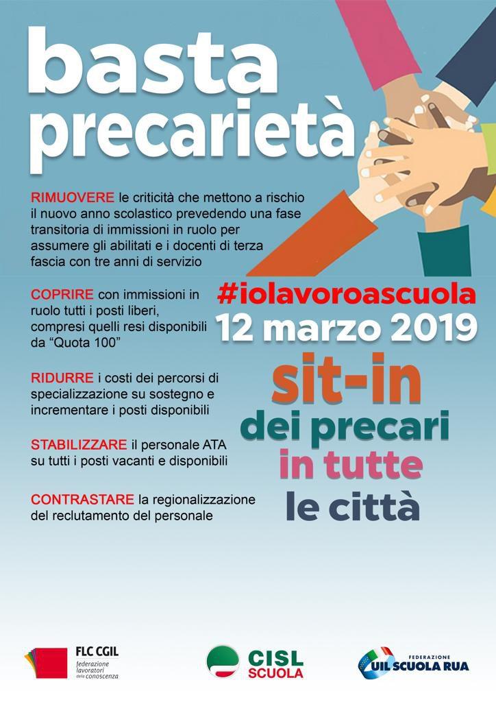#iolavoroascuola | 12 marzo – le immagini dai sit in delle province dell'Emilia Romagna
