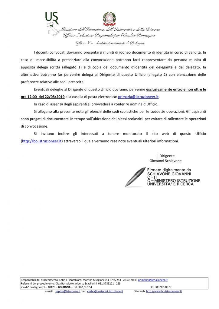 UAT di Bologna | Ruolo da GAE 2019/20 e scelta sedi da Concorso – AA sost./comune – EE sost.
