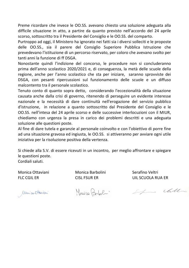 Assistenti Amministrativi facenti funzioni di Direttore dei Servizi Generali Amministrativi (DSGA) – LA UIL SCUOLA SCRIVE AL PREFETTO