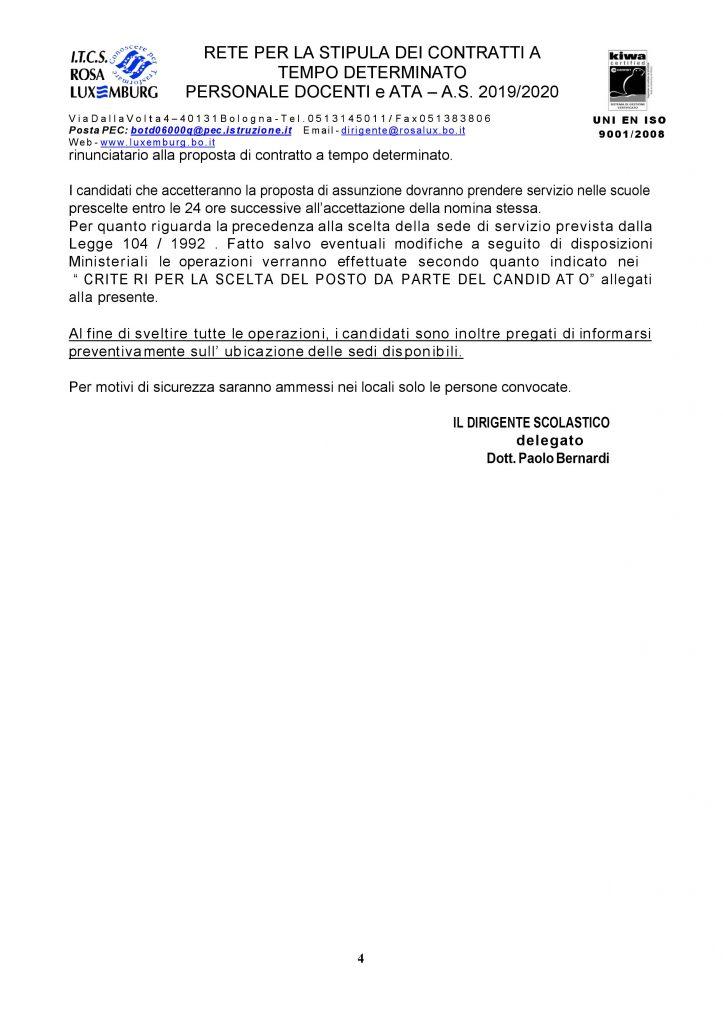 UAT di Bologna | Riconvocazione rete supplenze personale docenti scuola secondaria 2019