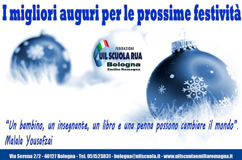 Festività 2019/20: gli AUGURI della FEDERAZIONE UIL Scuola RUA Bologna / Emilia Romagna