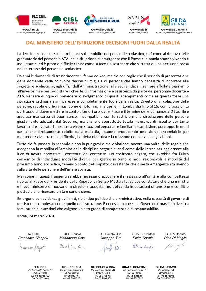 MOBILITA' | DAL MINISTERO DELL'ISTRUZIONE DECISIONI FUORI DALLA REALTÀ