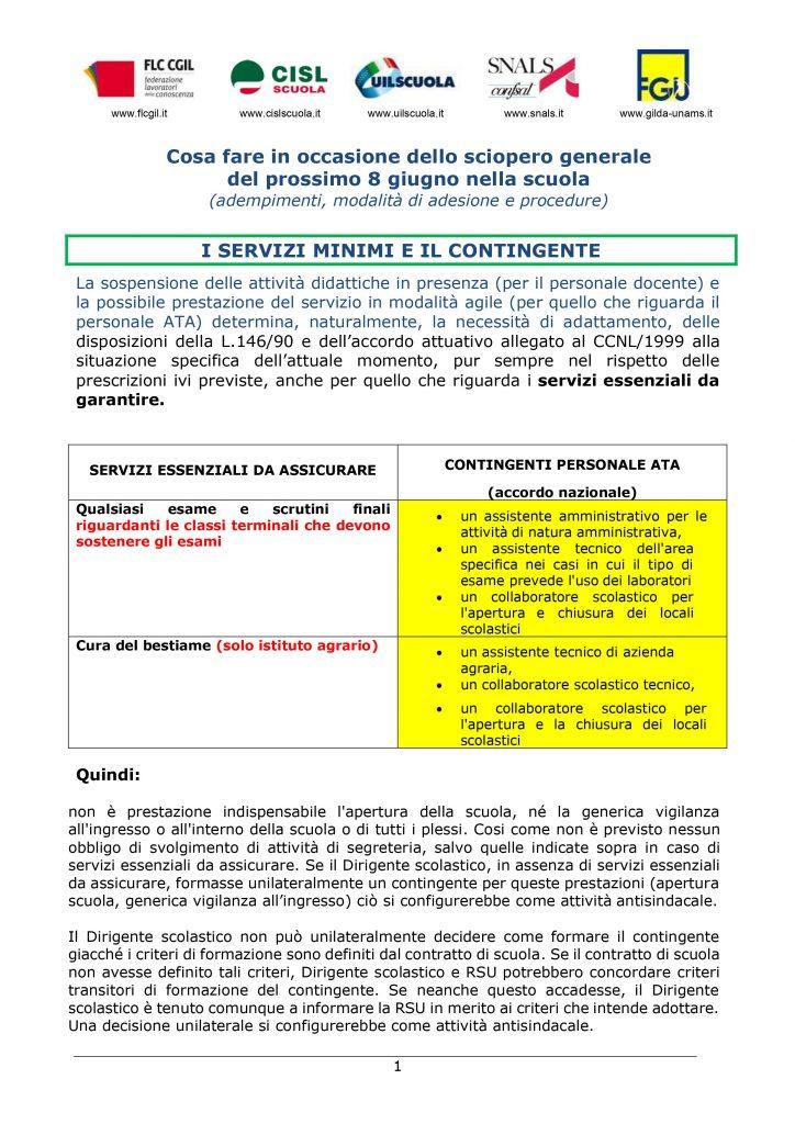 Cosa fare in occasione dello sciopero generale del prossimo 8 giugno nella scuola (adempimenti, modalità di adesione e procedure)