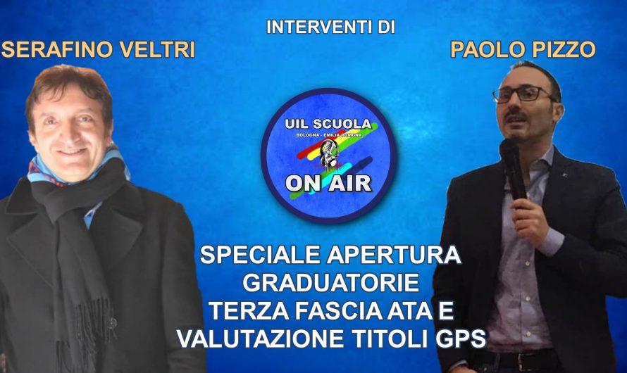 Paolo Pizzo a UIL SCUOLA ON AIR – Tutte le info sull'apertura delle graduatorie di terza fascia ATA e valutazione titoli GPS