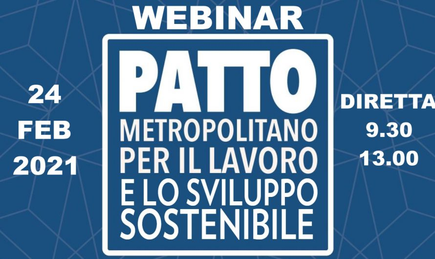 Webinar sul Patto metropolitano per il lavoro e lo sviluppo sostenibile