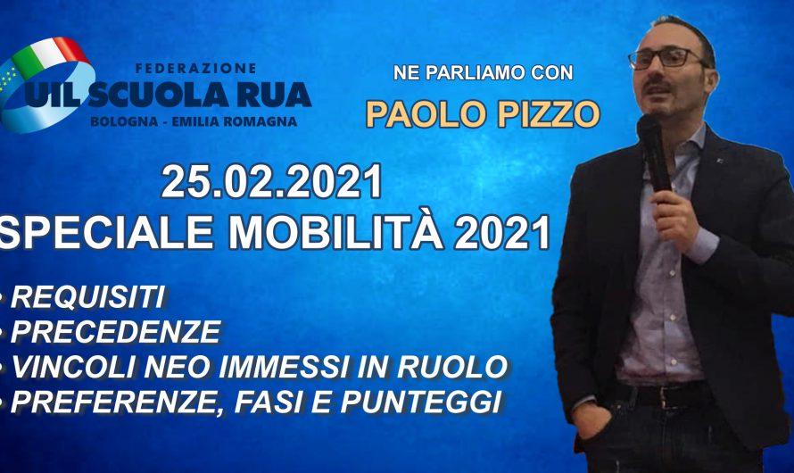 Speciale mobilità 2021 | giovedì 25 febbraio ore 17.00 – incontro a distanza mediante piattaforma Zoom e diretta Facebook