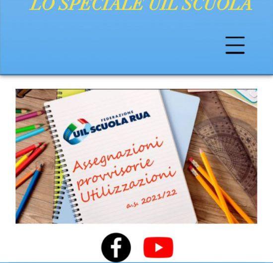 SPECIALE UIL SCUOLA WEB | Utilizzazioni e assegnazioni: on line il sito interamente dedicato alle domande